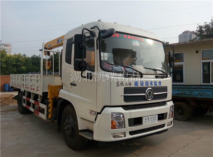 滦南县质监局采购的东风天锦两轴计量检衡车送车实况